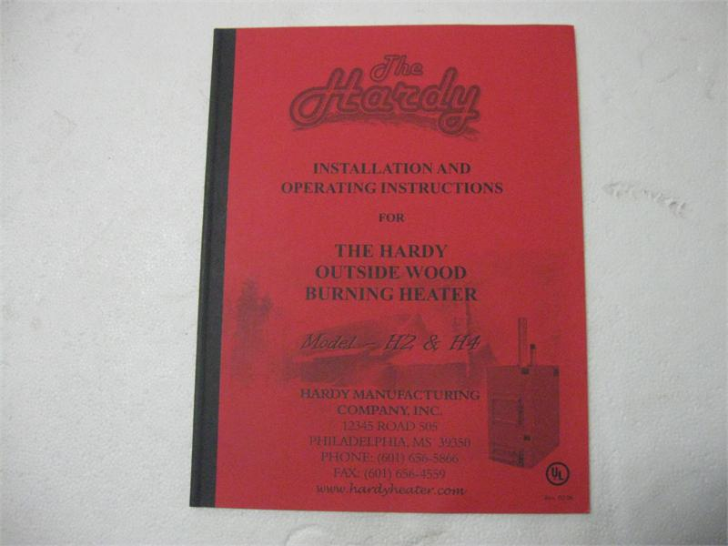 Hardy Wood furnace owners manual on